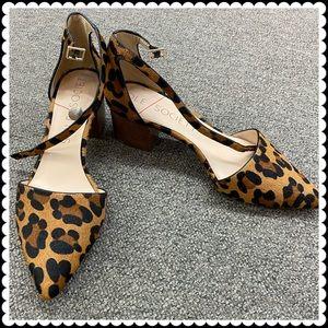 Sole Society Katarina Block Heel Cheetah Shoes 10